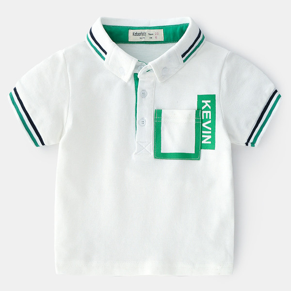New summer children's clothes, women's style, England style, pure cotton, short sleeve, polo shirt, boy's coat