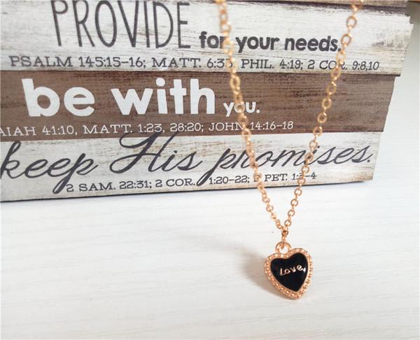 Cecmic traje negro corazón étnico 18 k placa de oro joyería hacer suministro mini broche de joyería collar joyería