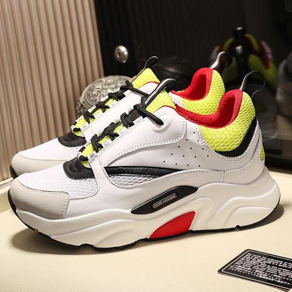 Homens Calçados Sapatilhas com Caixa De Origem Chaussures pour hommes Leve Conforto Moda Mens Sapatos De Couro Grande Tamanho B22 Tênis Em Técnico