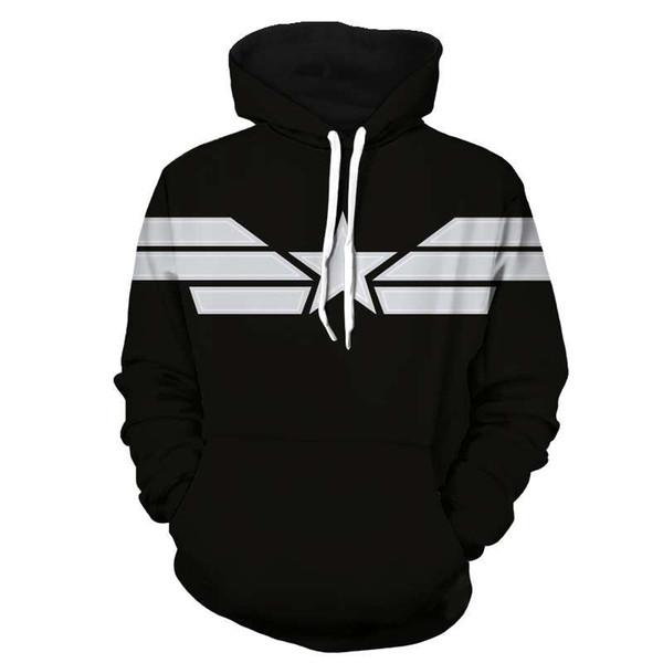 wholesale Captain America Hoodies Muscle Funny Kitty 3d Sweatshirts Men Pockets Winter Hoody Outerwear Unisex Zipper Streetwear