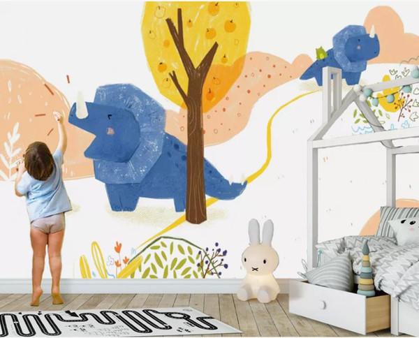 Abstrato planta árvore animal crianças quarto fundo parede moderna papel de parede para sala de estar