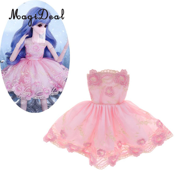 1/3 BJD Bonecas Inteligentes Roupas Bordados vestido de Vestido para Dollfie para DOD SD DD MSD Festa de Casamento Outfit