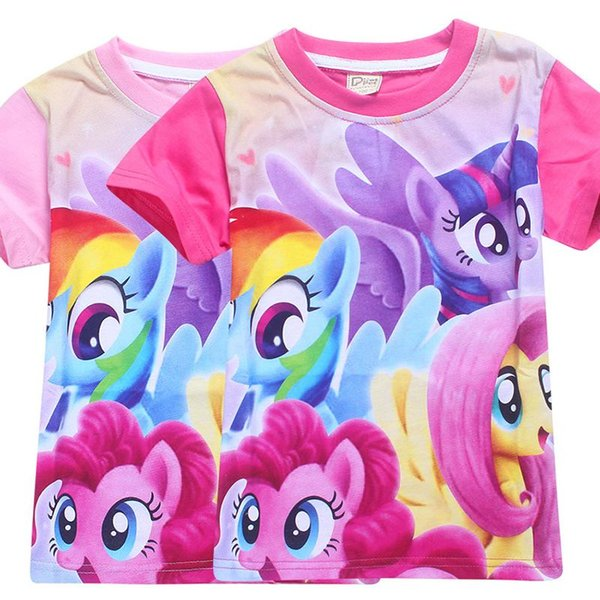 fab274a69c706 2019 My Baby Summer Princess Little Pony Rainbow T Shirt For Girls  Halloween Birthday Party Vestidos Dress Baby Girl Clothes From  Fashionstype, $5.08 ...