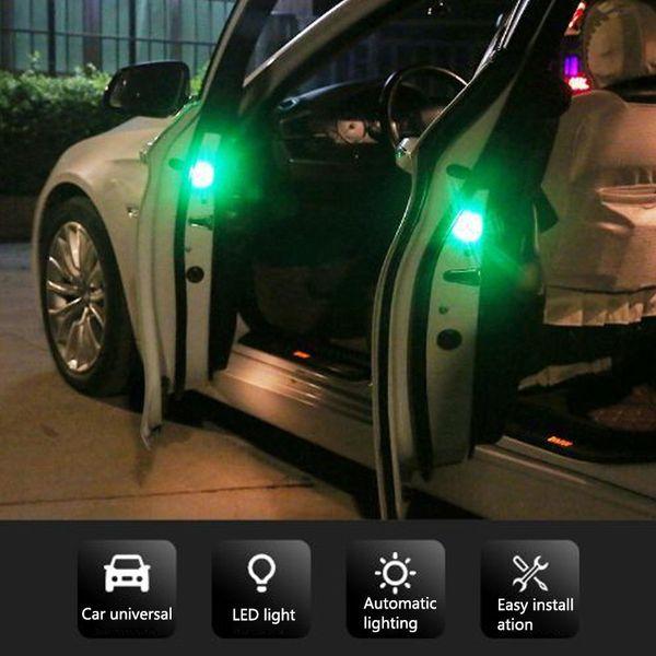 Magnetic Car Door LED Opening Warning Lamp Safely Flash Lights Waterproof