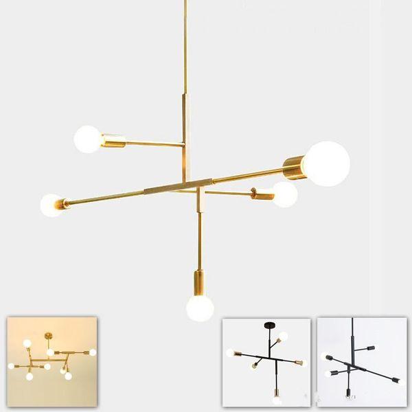 Simple post modern hanging pendant lamp light LED minimalist black gold bar stair foyer living dining room hanging ceiling lamp