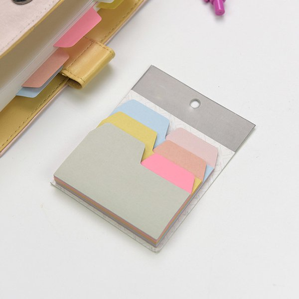 6 Colors 90 Sheets Writable Index Note Paper Sticky Notes Teacher Students Stationery Office Accessory School Supplies