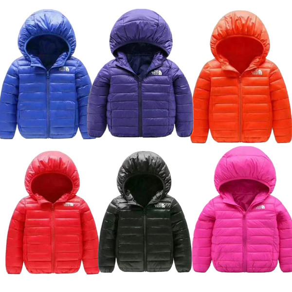 kids designer coats Junior Winter NF Down Jacket Kids Light Duck Down Coat The North Hooded Coats Boy Girls Brand Face Jacket Outwear C8803