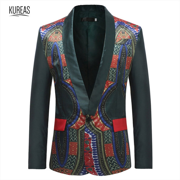 kureas men dashiki blaze african clothing tribal print casual cardigan jacket clothes fashion coat africa suits