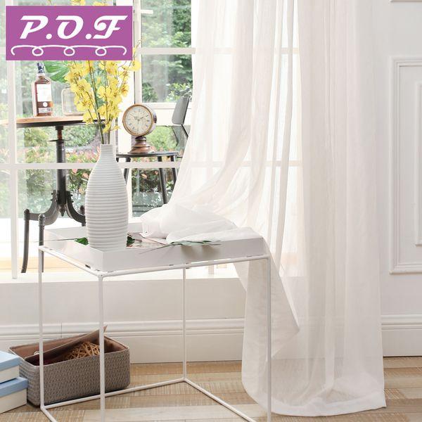 Acquista P.O.F Tende Soggiorno Voile In Tulle Voile Soggiorno Bianco Puro  Elegent Design In Stile Classico Accetto Personalizzazione A $37.02 Dal ...