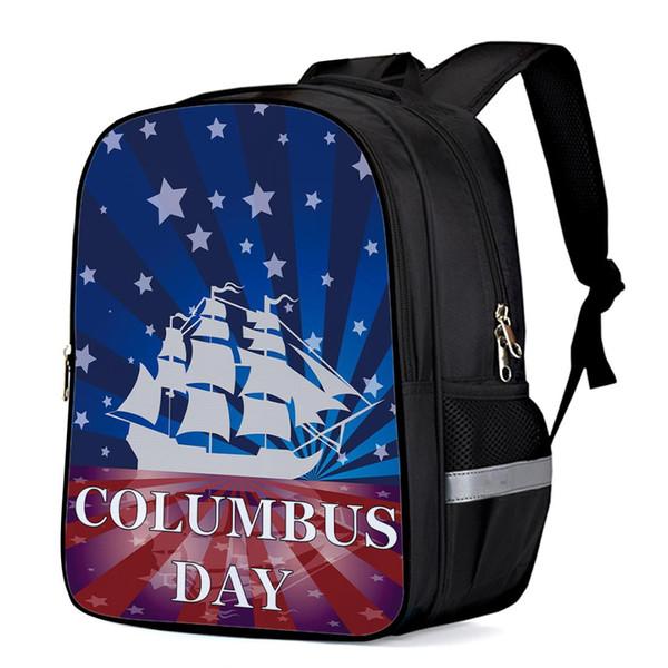 Flag Art Columbus Day Внутренняя рамка Рюкзаки Тактические рюкзаки Компьютерный рюкзак Детская книга Сумка Тренажерный зал Рюкзак Дорожные сумки