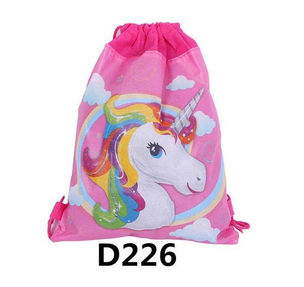 Unicorn Drawstring Bags Kids Backpack Girls Boys Pouch Gift Bags Children School Travel Storage Bags Schoolbag