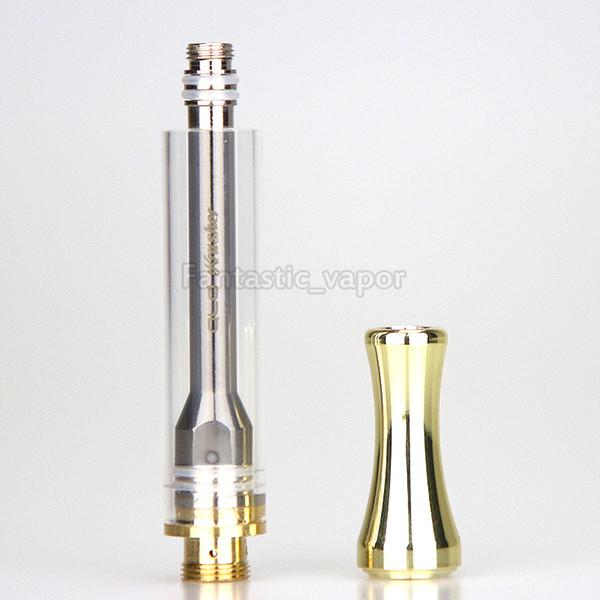 AC1003 cart gold Cartridge Metalltropfspitzen 1 ml Thick Oil Vaporizer Einweg leere Vape Pen Fit Bud Touch CE3 o Pen Batterie