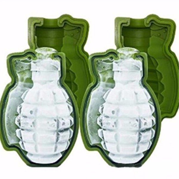 New Creative 3D Grenade Shape Ice Cube Mold Tray Ice Cream Maker Party Bar Drinks Whiskey Wine Ice Maker Silicone Bar Tools