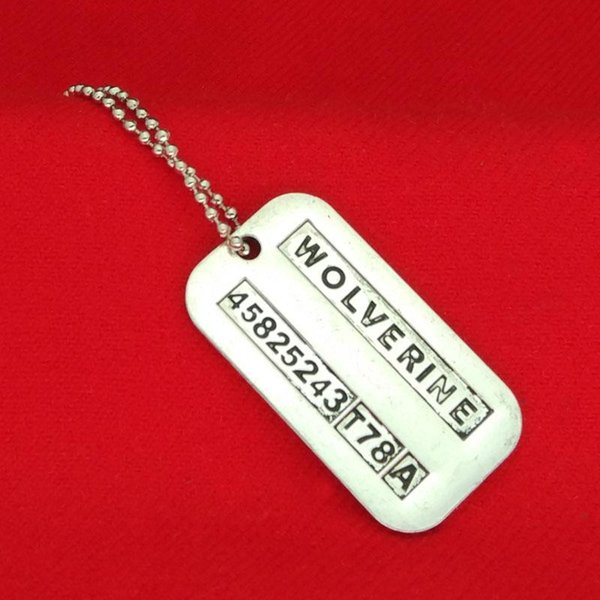 X-Men Wolverine necklace vintage lettering logan dog tag pendants necklaces statement jewelry for men movie jewelry Christmas gift 160367