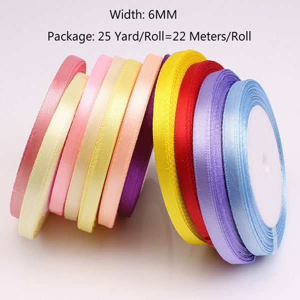 25 Yards/Roll Satin Ribbon Wholesale Gift Packing Christmas Decoration Diy  Ribbons Roll Fabric 6/10/15/20/25/40mm Customised Wrapping Paper Customized