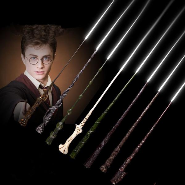 Harry Potter Cosplay Toys 56 Disegni Harry Potter Metal Core Bacchetta magica Con scatola regalo Giocattoli per bambini Regalo di Natale MMA2232