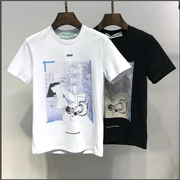 2019 camiseta de los hombres de algodón de hip hop ropa casual de los hombres camiseta de cuello redondo camisa de los hombres de verano de manga corta camiseta blanca negra camiseta