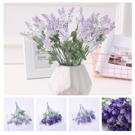 2019 Hot sale 34cm/13.3in simulation Green plant Lavender flower wedding arrangement Home Furnishing decoration Photograph props