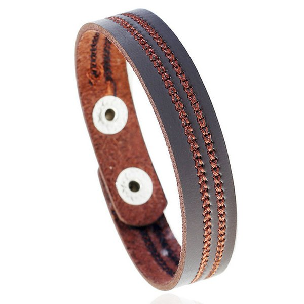 New Style Leather Bracelets Fashion Jewelry Embroidered Brief Infinity Charm Bracelet Vintage Accessories Lover Gifts