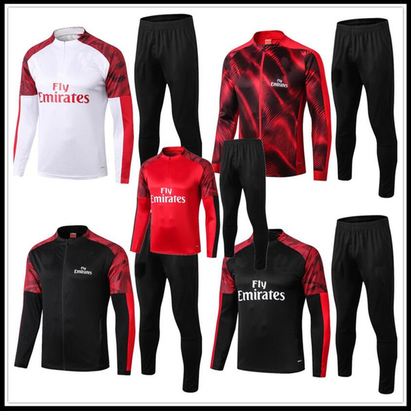 2019 2020 MILAN survetement jacket Training suit soccer Jersey tracksuits 19 20 MILAN PIATEK PAQUETA REBIC football jacket tracksuit set