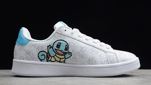 Pocket Monsters 2020 Squirtle Warm pig Pika Women Men Cartoon Shoes Fashion Smith Casual shoes Size 36-44