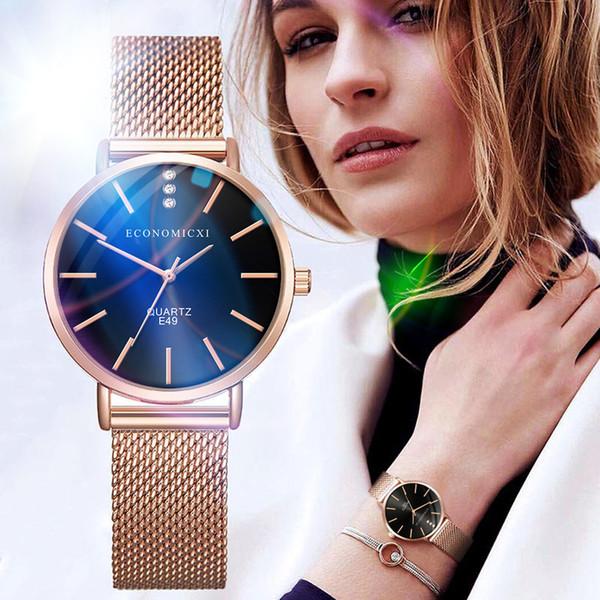 2019 New Women Quartz Watch Charming Rose gold Bracelet Watch Dress Party Summer Holiday Drop Shopping Reloj de moda dama Wd3