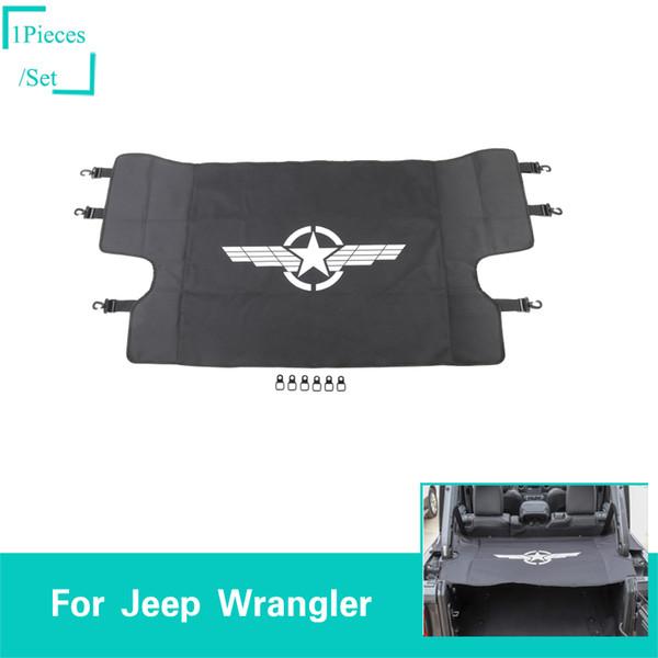 Tronc de voiture rideau d'abri et boucle de traction aile cinq étoiles Mark Fit Jeep Wrangler JL 2018 + accessoires intérieurs intérieurs