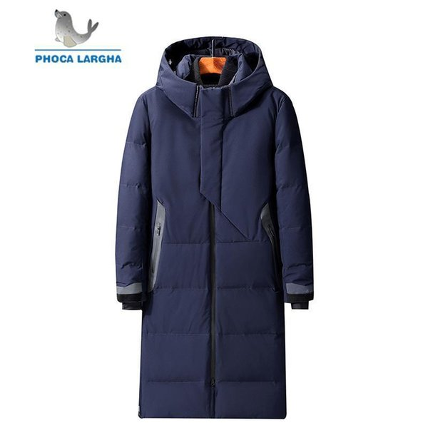Nice Mens Hooded Extra Long Duck Down Padded Jackets Man Thick Winter Down Coats Male Fashion Long Overcoat Keep Warm Outerwear