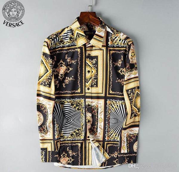 Camisas de moda para hombre Manga larga Camisa casual de color sólido 2019 Blusa nueva de invierno Cuello mandarín delgado Camisa larga de adolescente 56220