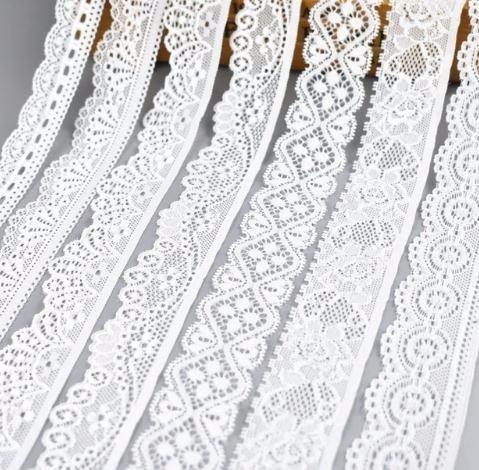 top popular 5Yard Lot High Quality White Elastic Ribbon Trims Underwear Lace Trim Embroidered For Sewing Decoration african lace fabric 2019