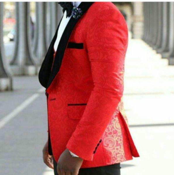 Handsome Jacquard Groom Tuxedos (Jacket+Tie+Vest+Pants) Men Suits Custom Made Formal Suit for Men Wedding Bestmen Tuxedos Cheap 20