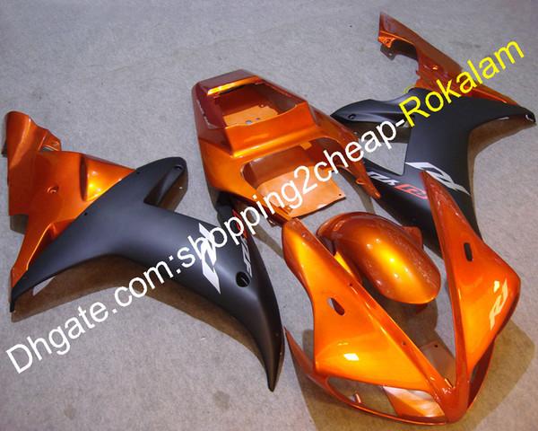Juego de carenado del carenado negro naranja para Yamaha YZF R1 2002 2003 YZF1000 02 03 YZF-R1 Juego de carenados de motocicleta (moldeo por inyección)