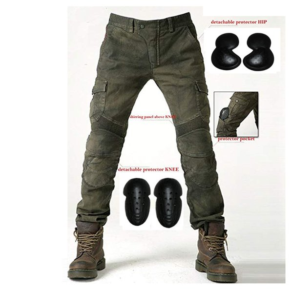 Hombre Motocicleta Pantalones Moto Jeans Con Motorcycle Biker Pants Azul Waist 31.5 S-