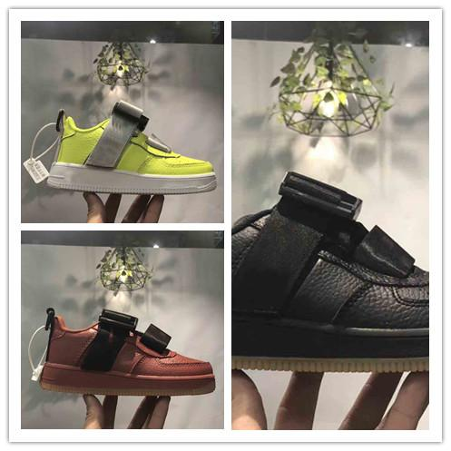 kids New Dunk Flyline Running Shoes Sports Skateboarding leather Shoes High Low Cut White Black Outdoor Trainers Sneakers Eur 28-35