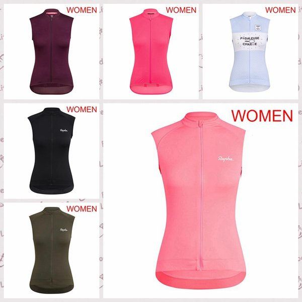 RAPHA team Cycling Sleeveless jersey Vest Breathable Quick Dry Tops Ropa Ciclismo womens bicycle Racing Outdoor Biking clothes Q61089