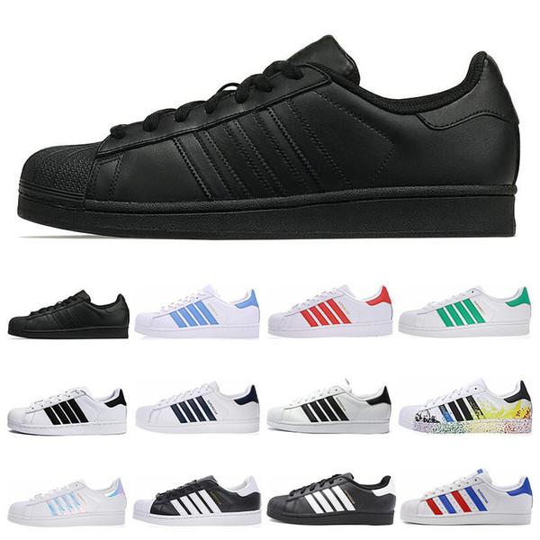 Acquista Adidas Superstar Hot Moda Uomo Donna Casual Scarpe