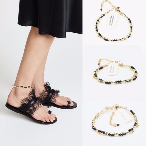2018 New Hot Sale Trendy Semi-precious Copper Enkelbandje Anklet Foot Jewelry Beach Wedding Bridesmaid Gift Handcrafted Dainty