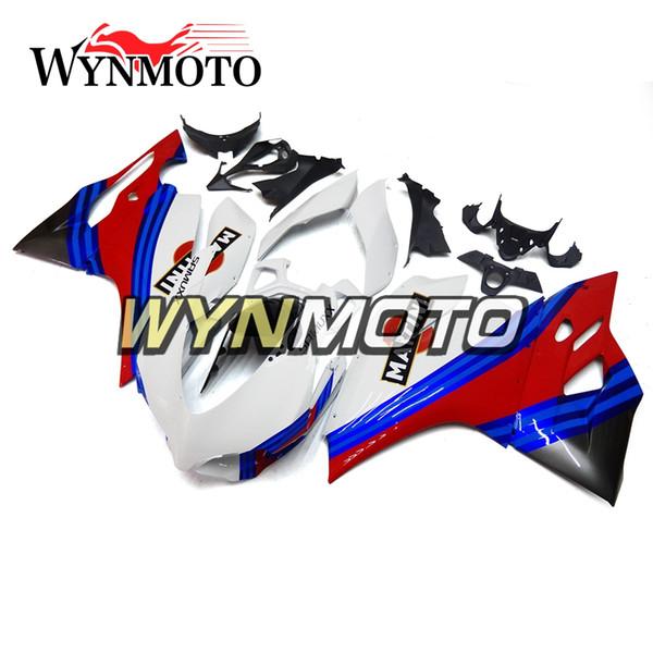 Kit de carenado completo blanco azul rojo para Ducati 899 1199 Año 2012 2013 899 1199 12 13 ABS Inyección de plástico Motocicletas Cubiertas Nueva carrocería