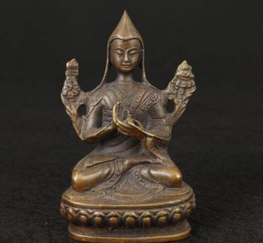 Chinesisches altes NICE TIBET ALTES SAMMELBARES HANDARBEITS-CASTING-BUDDHA-VERZIERUNGS-STATUEN-FIGUR-Dekorationsmessing-Fabrikverkäufe