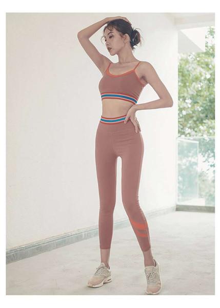 21 Одежда для йоги женская высокая талия узкие брюки для йоги ins персик персик бедра чистая красная фитнес-брюки работает быстросохнущие спортивные штаны