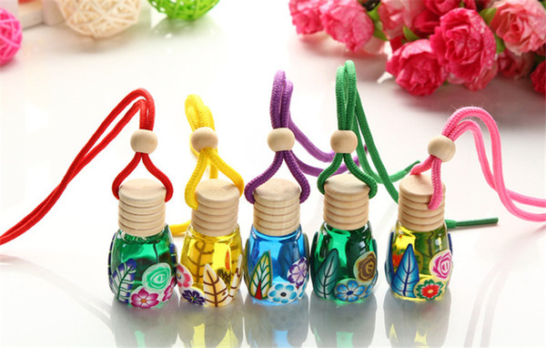 Car Hanging Diffuser Glass Bottle Air freshener Perfume bottle For Car Aromatherapy Remove smell Empty glass bottle