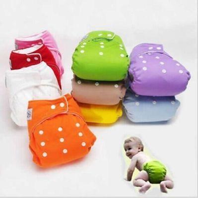 Colores Pañales Almohadillas Cubiertas Nuevo Unisex Tamaño reutilizable Ajustable Lavable A prueba de fugas Paño de bebé Pañal Cambio de pañales