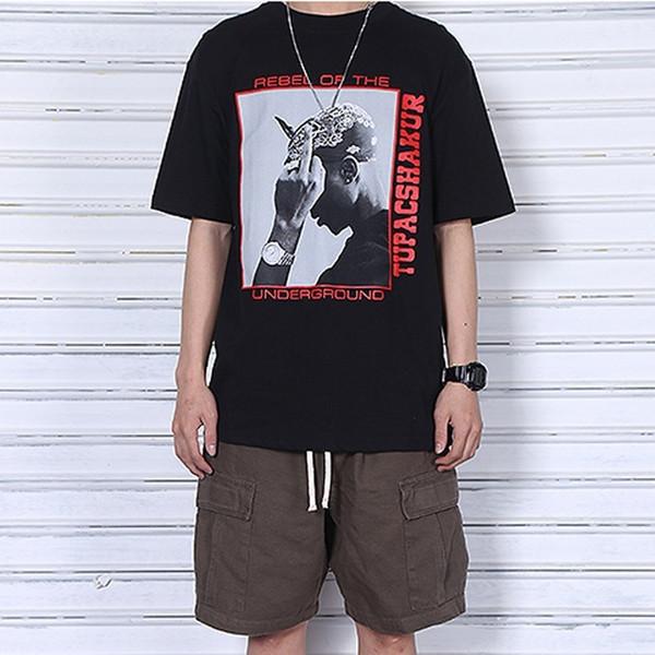 Hip Hop 2PAC POP UP T-Shirt Character Stampa Moda Casual Skateboard Street Summer Maniche corte Uomo Donna Simple Sport Tee HFYMTX114