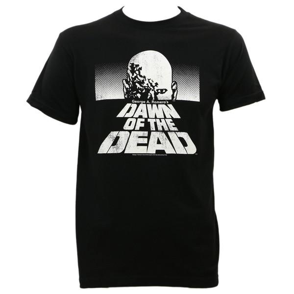 Auténtico DAWN OF THE DEAD Camiseta negra y blanca con diseño ajustado de S-2XL NUEVO Envío gratis divertido Camiseta casual Unisex