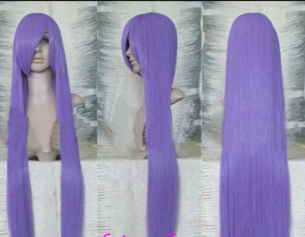 Parrucca Wig HOT Free New Long Straight Purple Cosplay per le donne