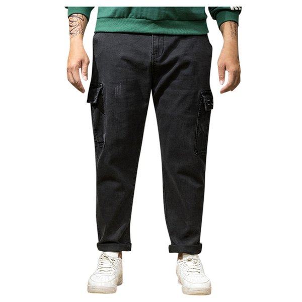 hip hop sweatpants Men Summer Pants Casual Long Skate Board Stright Pocket Plus Size Jeans streetwear pantalones hombre