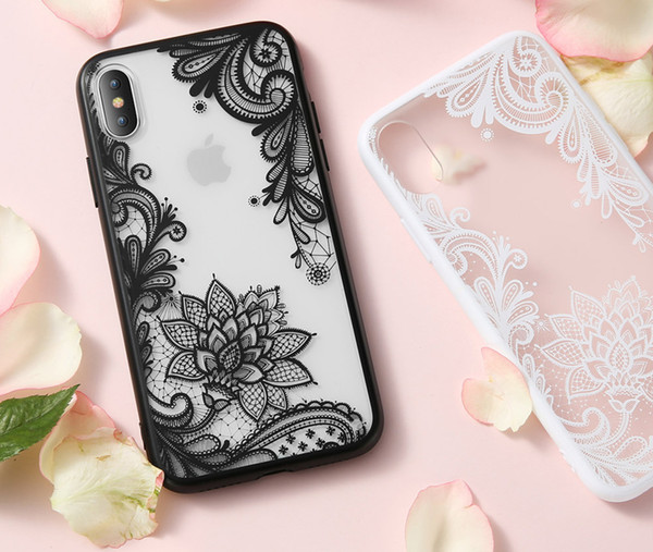 Lace Flower Phone Case For Iphone 7 8 6 6s 5 5s Se Plus Retro Sexy Floral Cases Back Cover For Iphone X Xs Max Xr Capa