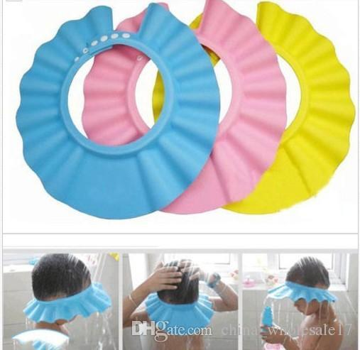 Safe Shampoo baby Shower Cap Bathing Bath Protect Soft Cap Hat For Baby Children Kids Gorro de ducha Tonsee