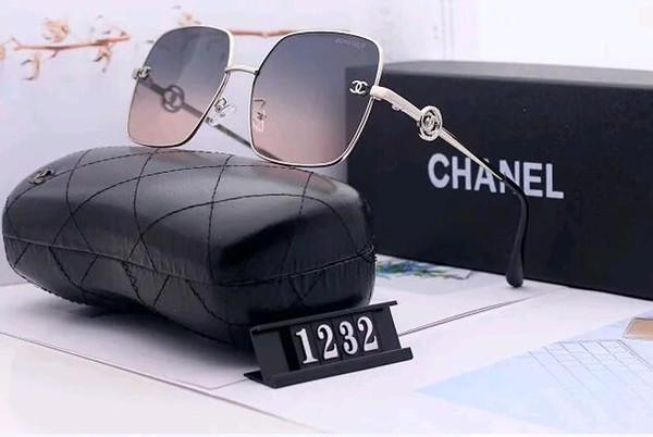 2019 En kaliteli yeni moda güneş gözlüğü bayanlar moda markası tasarımcı güneş gözlüğü asil ayna kutusu ücretsiz teslimat gözlük