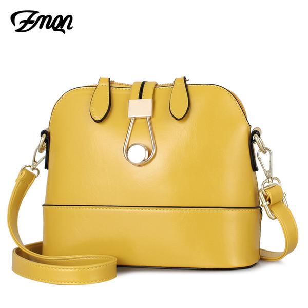 Women Crossbody Bags Leather Shell Yellow Bags Small Fashion Ladies Hand Bag For Women 2019 Girls Side Bolsa Feminina A534